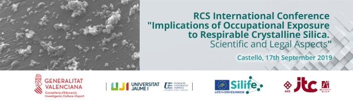 thumb cabecera RCS International Conference: Implications of Occupational Exposure to Respirable Crystalline Silica. Scientific and Legal Aspects