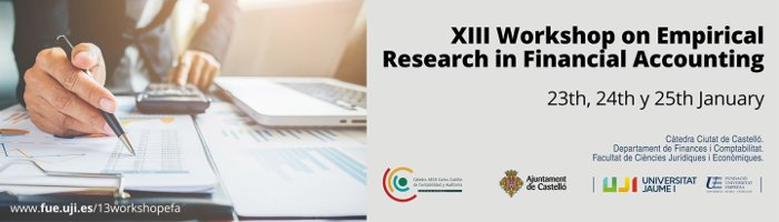 Presentation  XIII WORKSHOP ON EMPIRICAL RESEARCH IN
