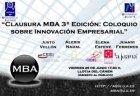 Foto Clausura MBA (3ªedición): Coloquio sobre Innovación Empr