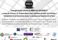 Foto Inauguracion oficial de MBA-UJI 2016/2017
