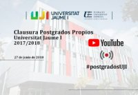 Foto Acto de Clausura Postgrados Propios UJI 2017/2018