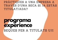 FUE-UJI offers the Experience Programme