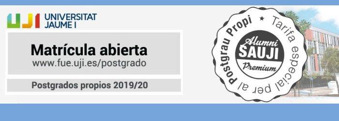Foto Oferta Postgrados Propios UJI | 2019/2020